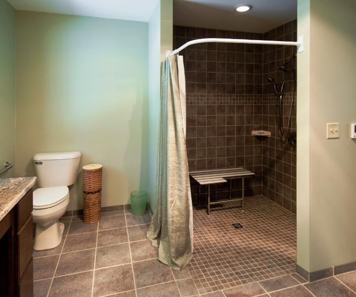 Ada Shower Chair Cad Block - Madison Art Center Design