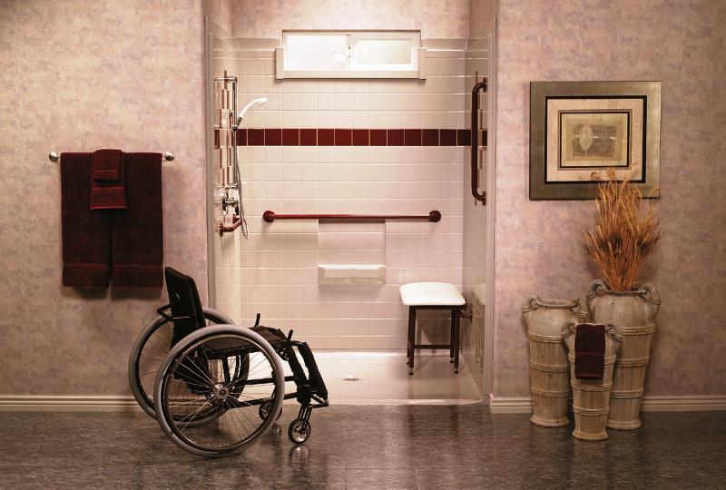 Ada Shower Chair Location