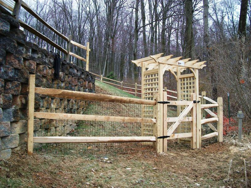 Building A Split Rail Fence Gate Madison Art Center Design