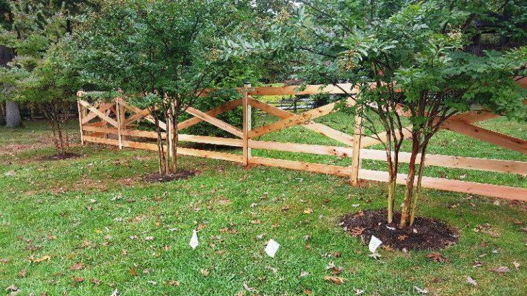 Cedar Split Rail Fence Gate