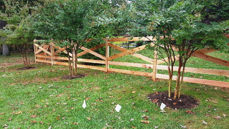 Cedar Split Rail Fence Gate Madison Art Center Design