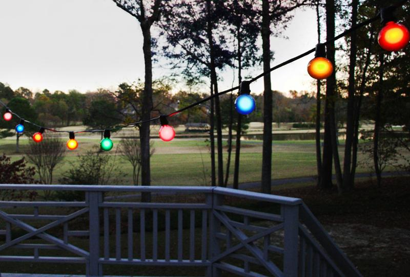 Colorful Commercial Outdoor String Lights