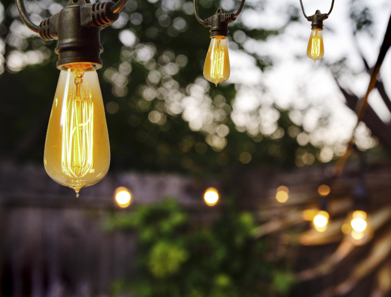 Commercial Outdoor Globe String Lights