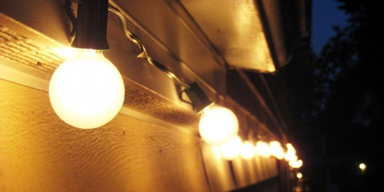 Commercial Outdoor Hanging Lights String