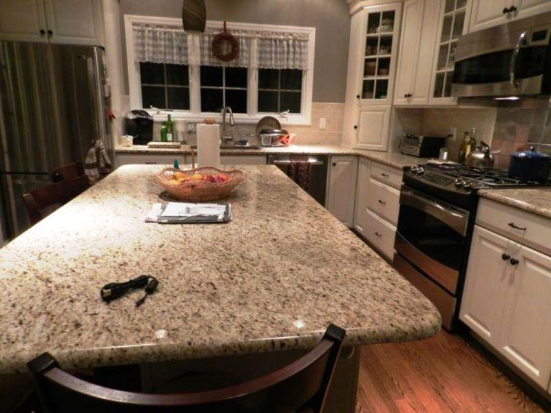 Crema Pearl Granite With White Cabinets Madison Art