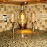 Crema Pearl Granite With Cherry Cabinets