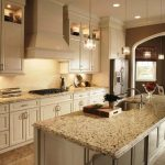 Crema Pearl Granite With Oak Cabinets