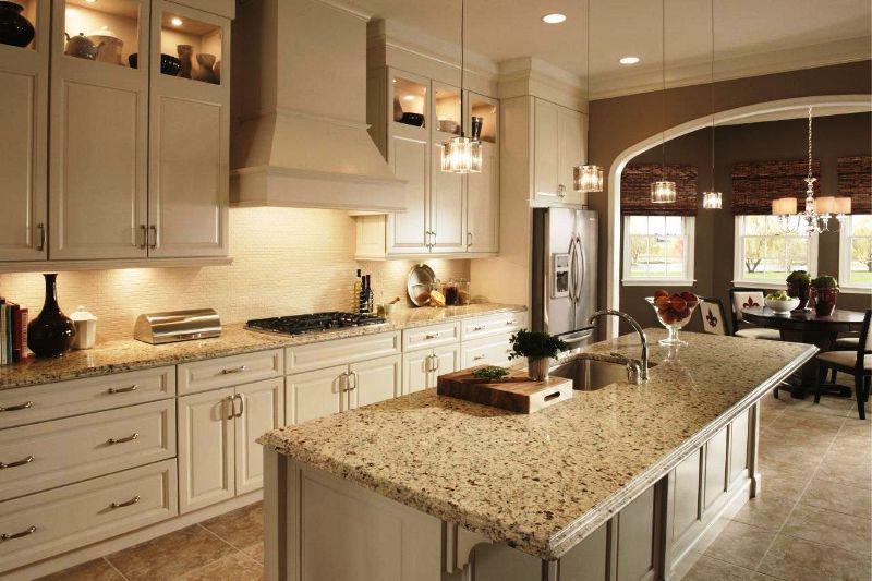 Crema Pearl Granite With Oak Cabinets Madison Art Center