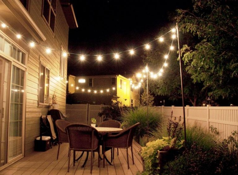 DIY Commercial Outdoor String Lights Lowes