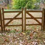 Double Gate For Split Rail Fence