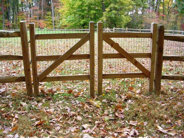 Double Gate For Split Rail Fence