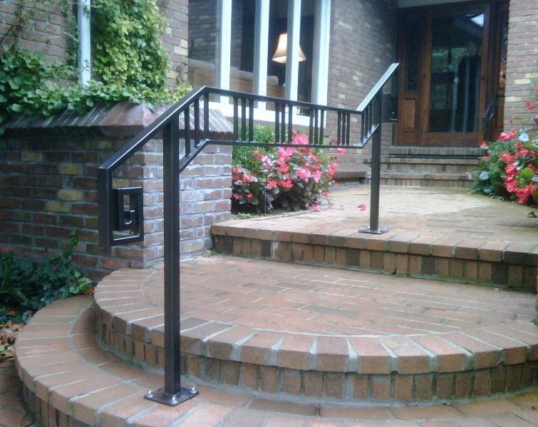 Exterior Stair Railings Angle - Madison Art Center Design