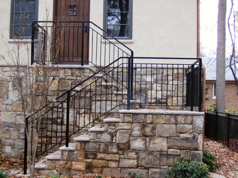 Exterior Stair Railings Connection