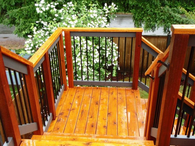 Exterior Stair Railings Construction