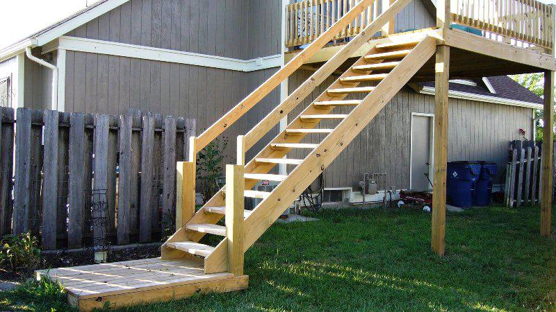 Pine Exterior Stair Railings