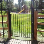 Split Rail Fence Double Gate