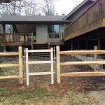 Split Rail Fence Driveway Gate
