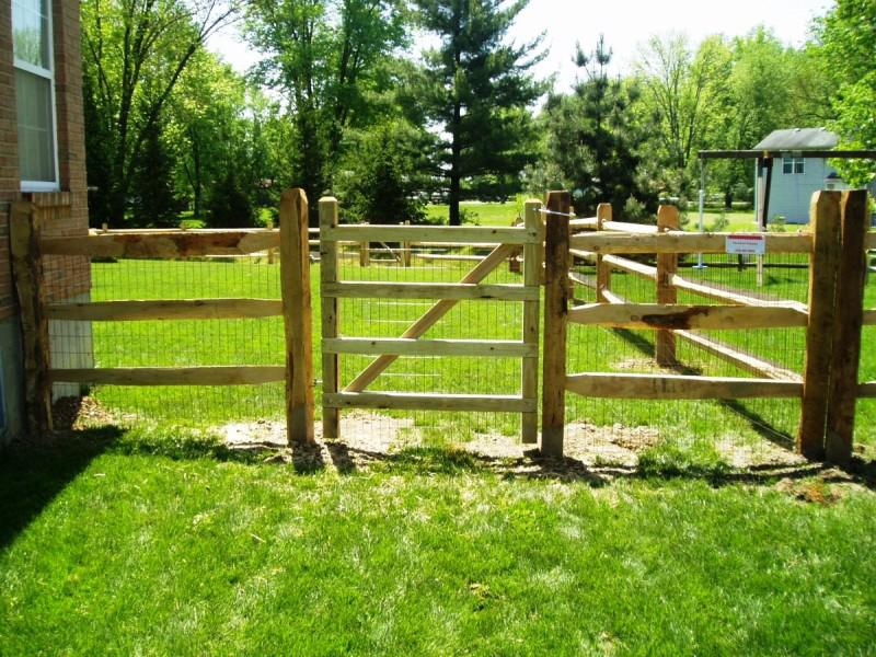 Split Rail Fence Driveway Gate Madison Art Center Design