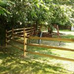 Split Rail Fence Gate Installation