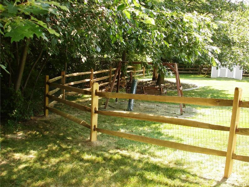 Split Rail Fence Gate Installation