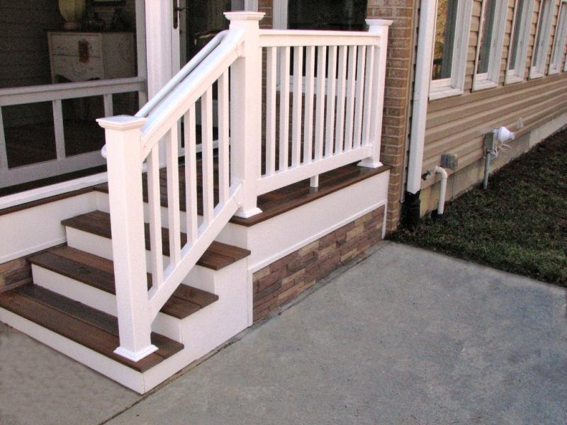 Vinyl Exterior Stair Railings