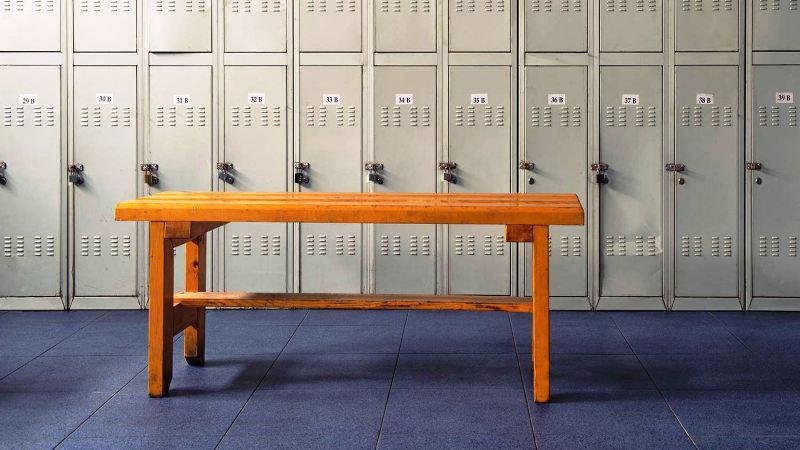 Walnut Locker Room Bench