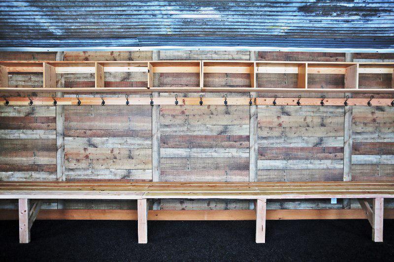 Wooden Locker Room Bench