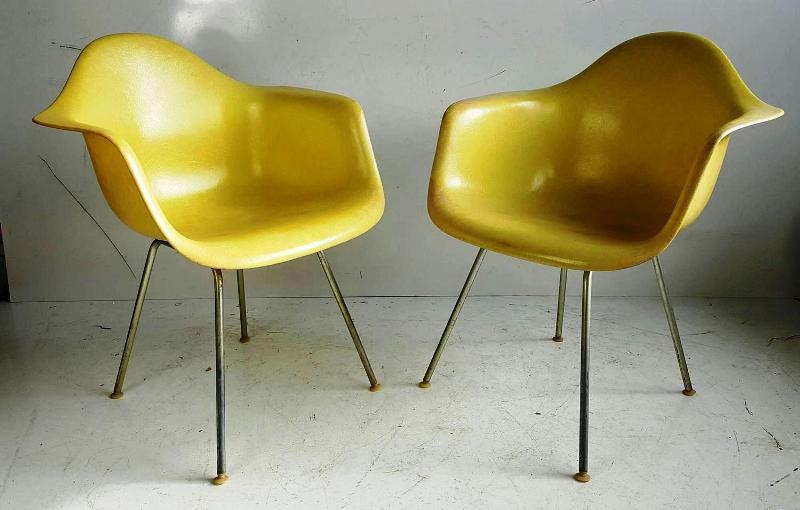Yellow Eames Shell Armchair