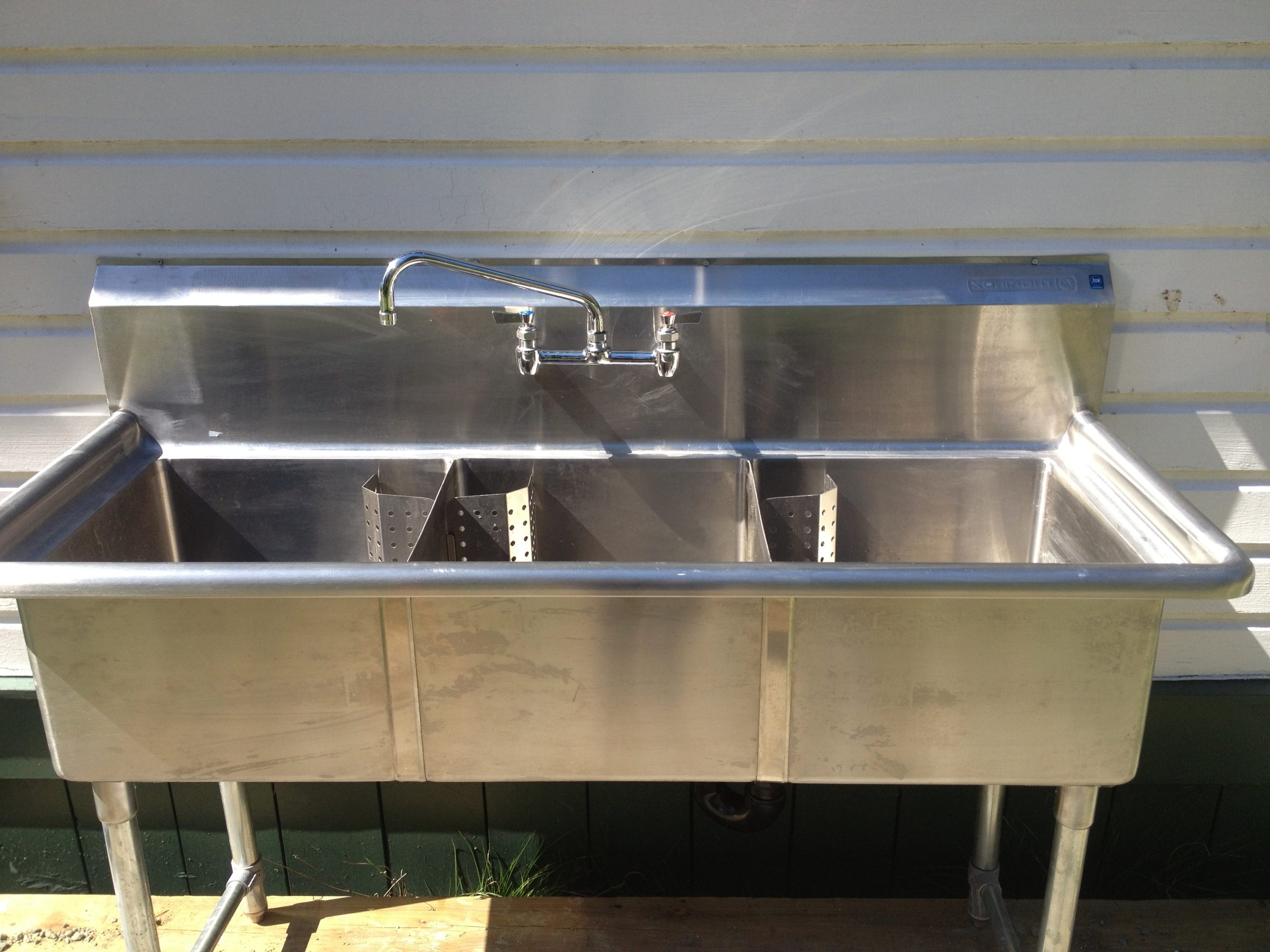 Stainless Steel Commercial Kitchen Sink For Industrial ...
