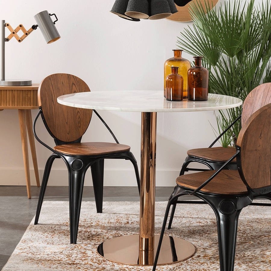 California Pizza Kitchen Domain: Arhaus Copper Dining Table