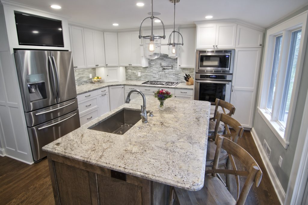Aspen White Granite With White Cabinets Madison Art