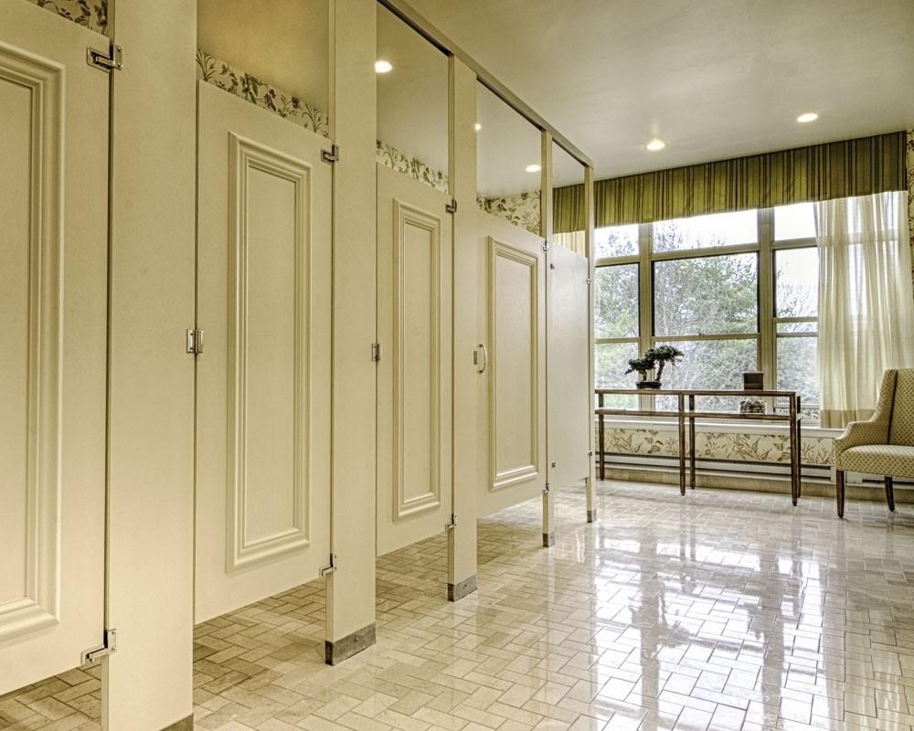 Wooden Bathroom Stall Doors - Madison Art Center Design