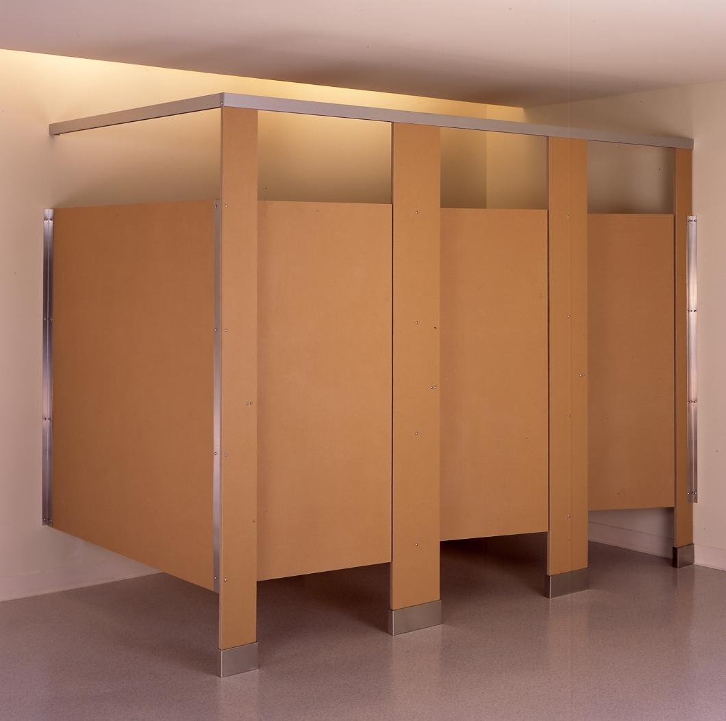 Wooden bathroom stall doors madison art center design - Bathroom partition installers near me ...