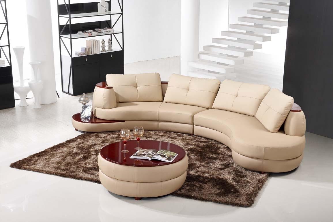 Beige Linen Sectional Sofa