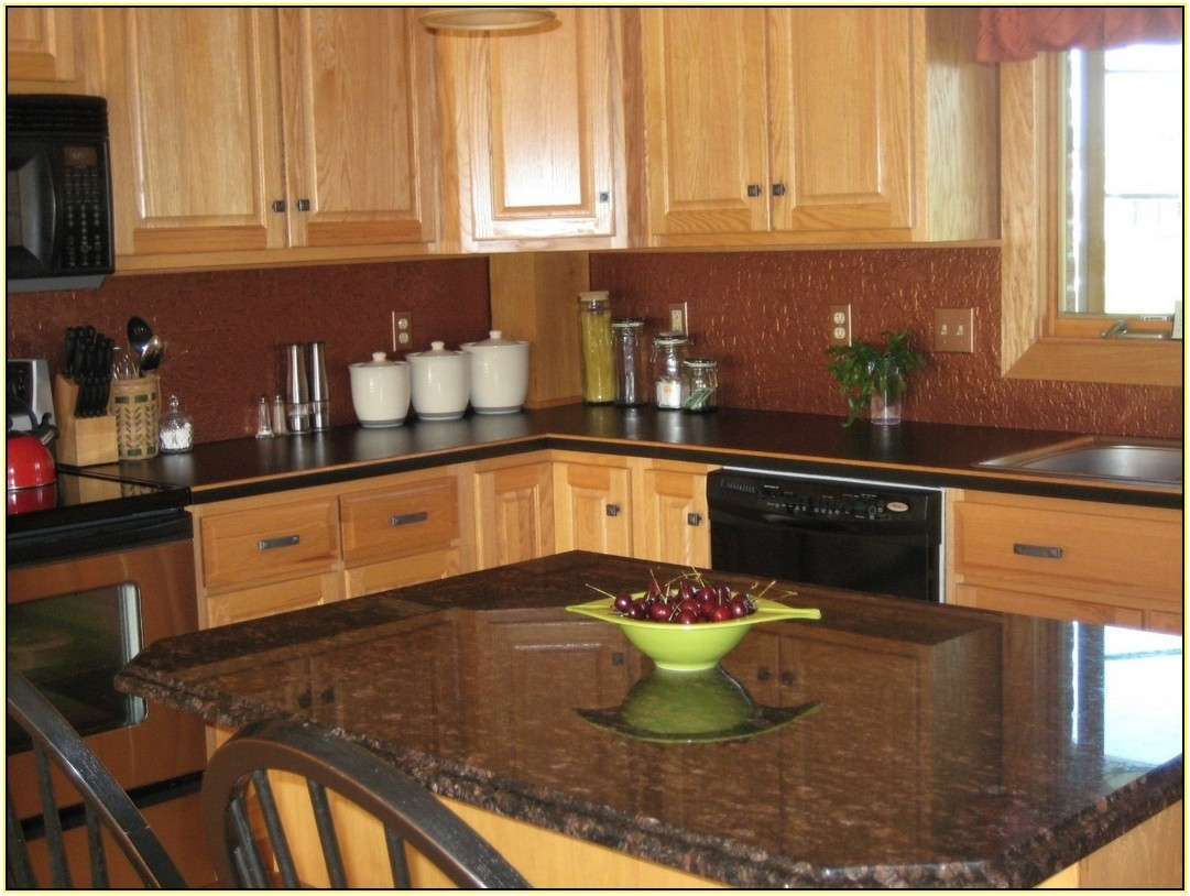 Superieur Black Granite Countertops With Cherry Cabinets