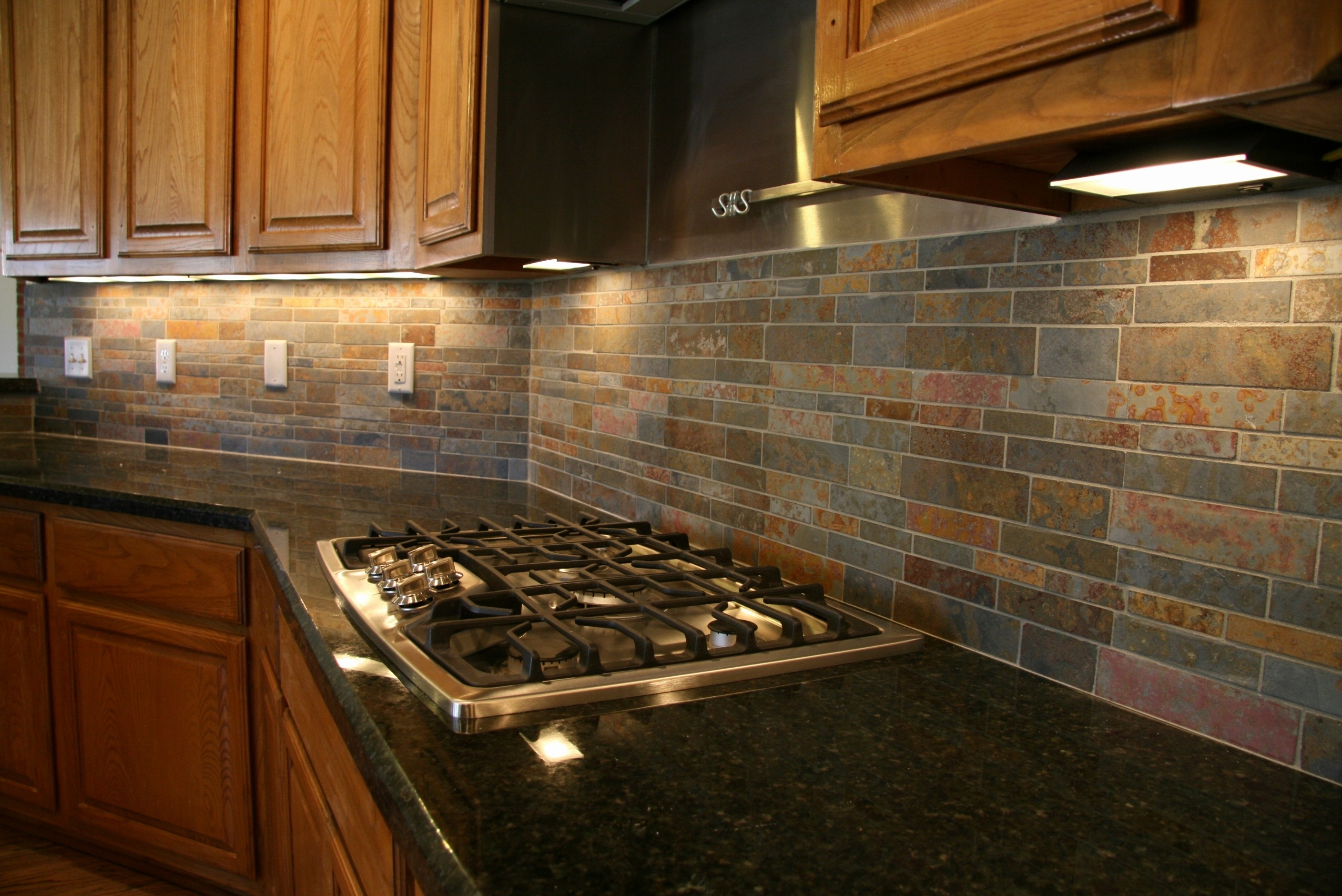 Black Granite Countertops With Oak Cabinets Madison Art Center Design