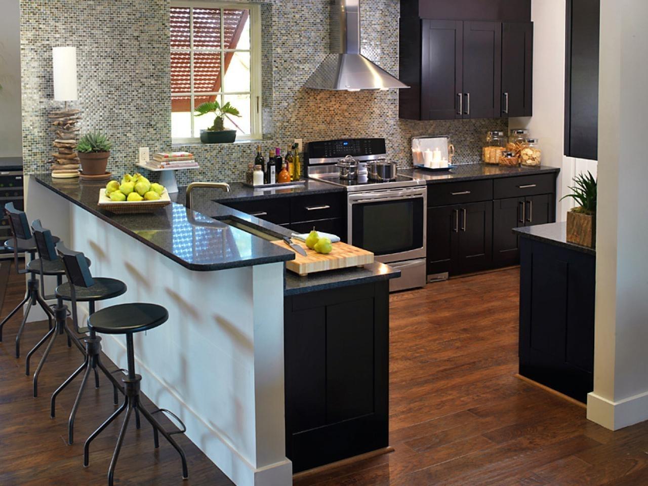 Black Granite Kitchen Countertops With White Cabinets ...