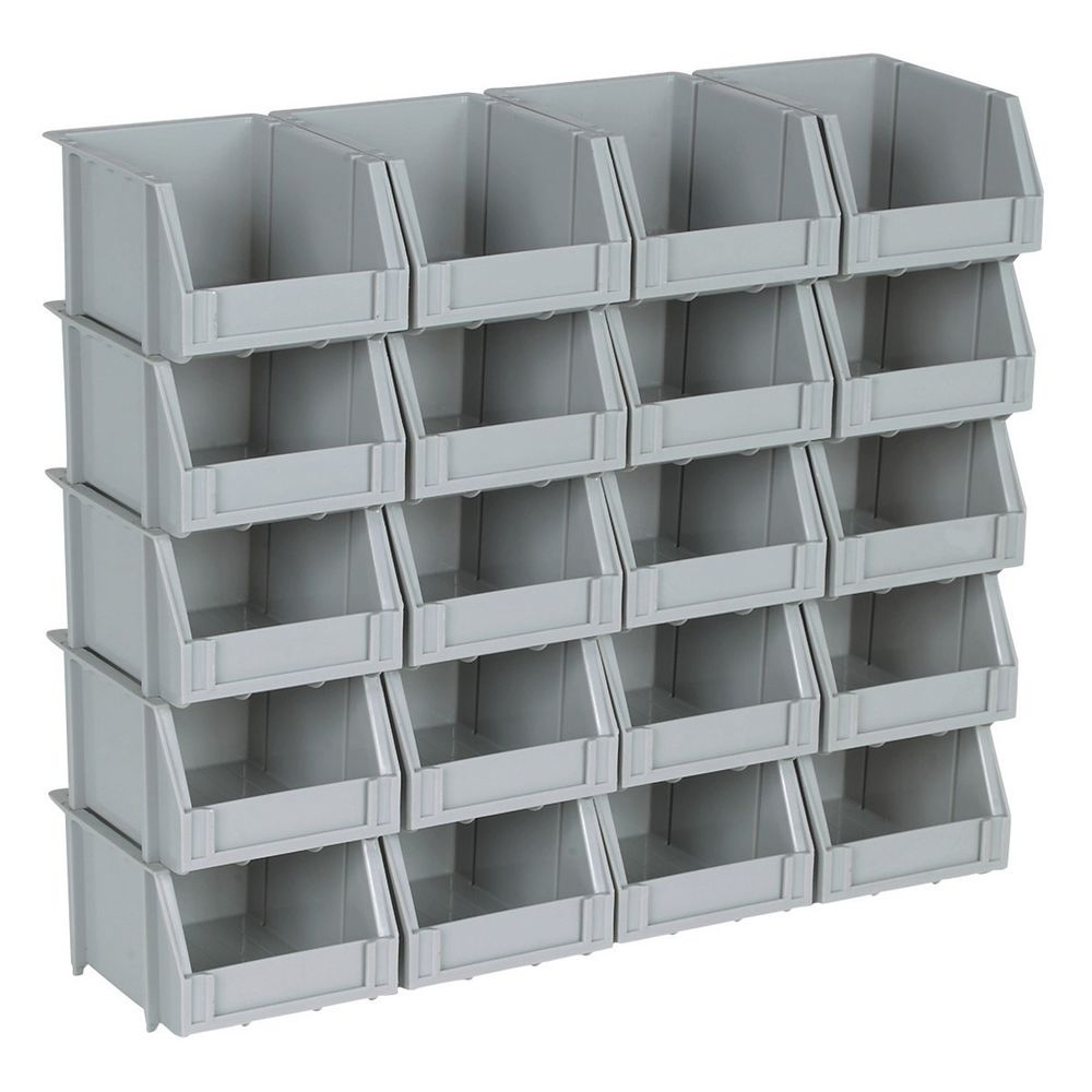 used stackable plastic storage bins madison art center design. Black Bedroom Furniture Sets. Home Design Ideas