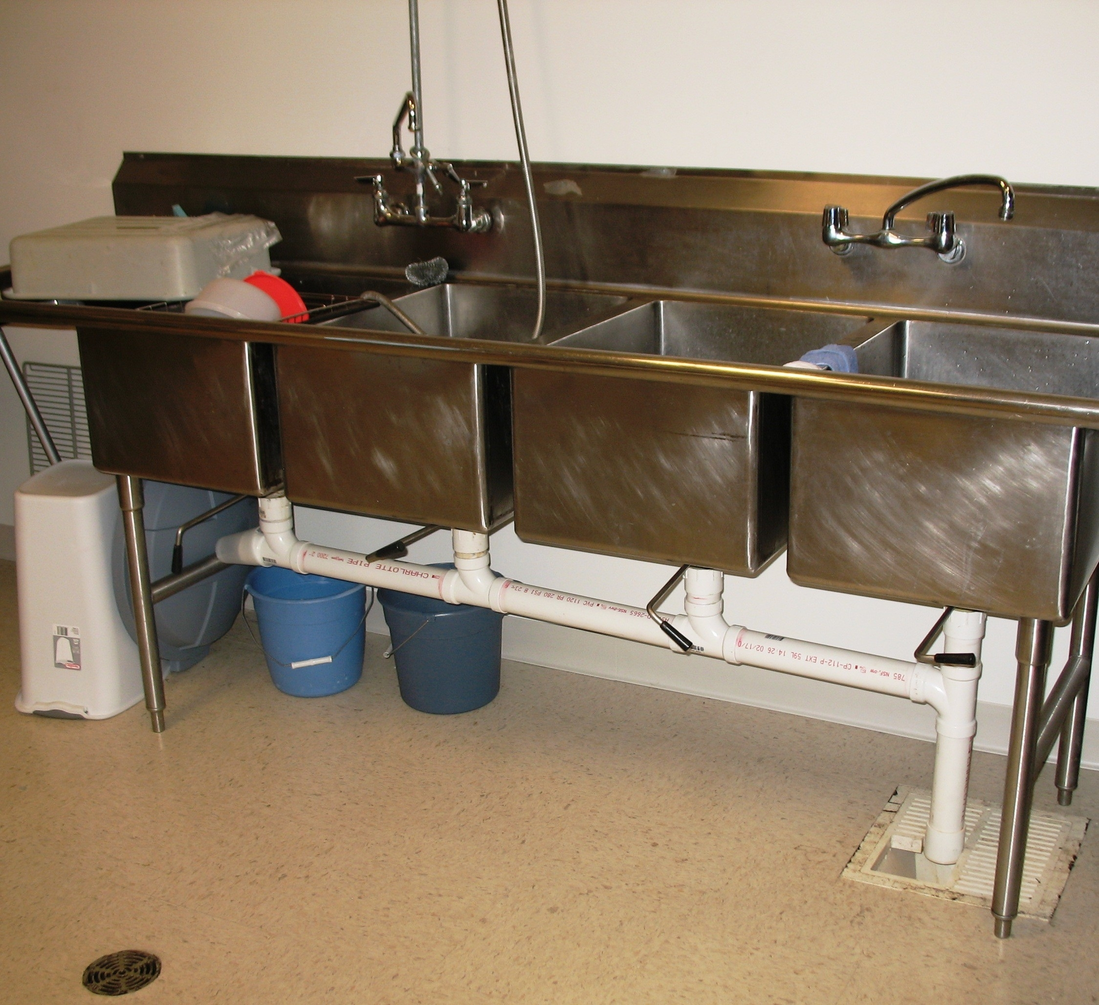 Stainless Steel Commercial Kitchen Sink For Industrial Kitchen ...