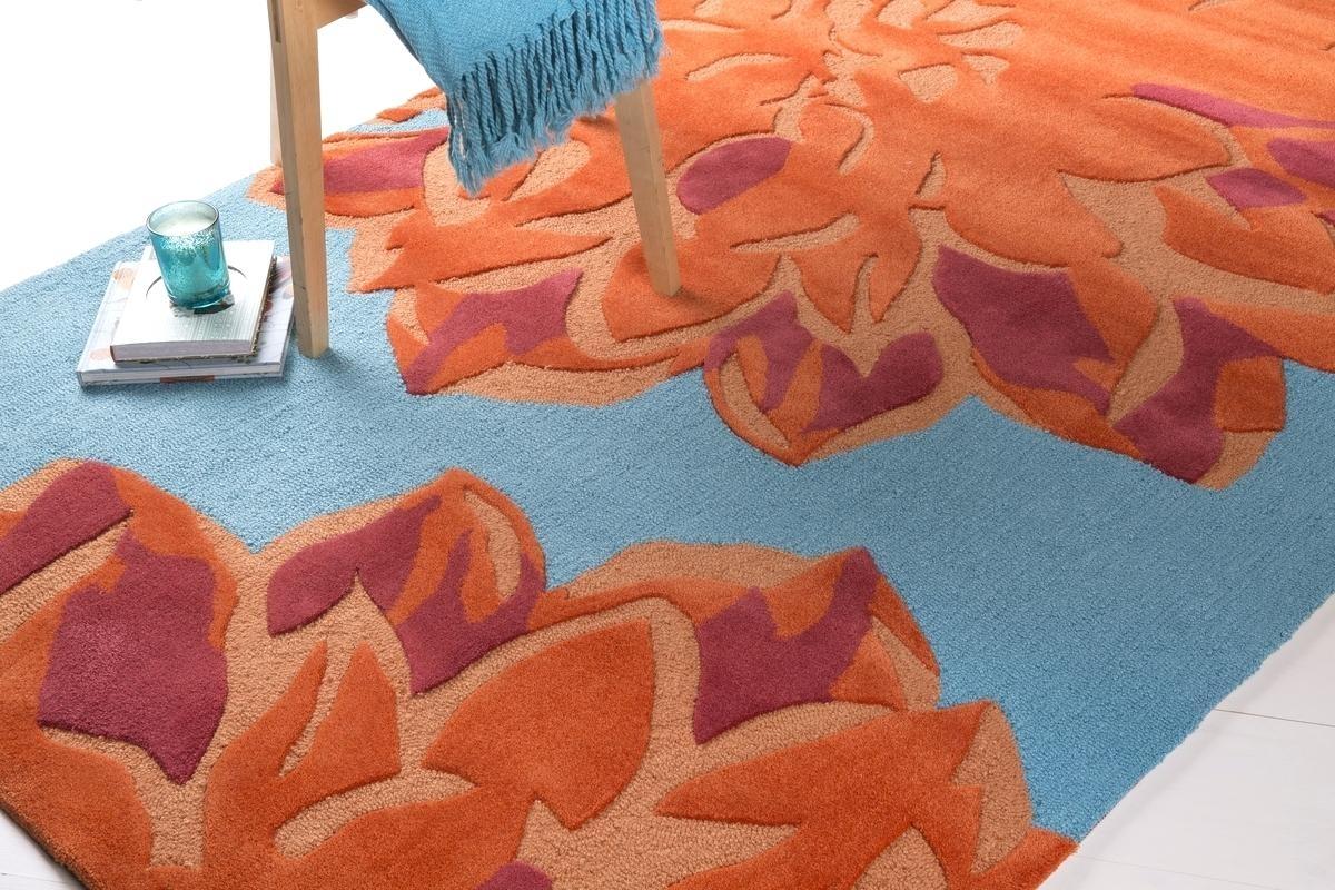 Custom Burnt Orange Area Rug