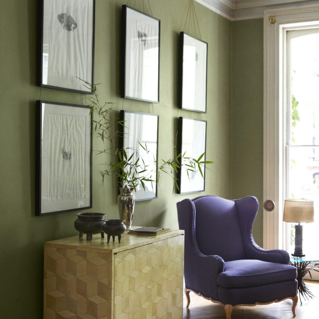 Madison Art Center Design: Dark Olive Green Exterior House Paint