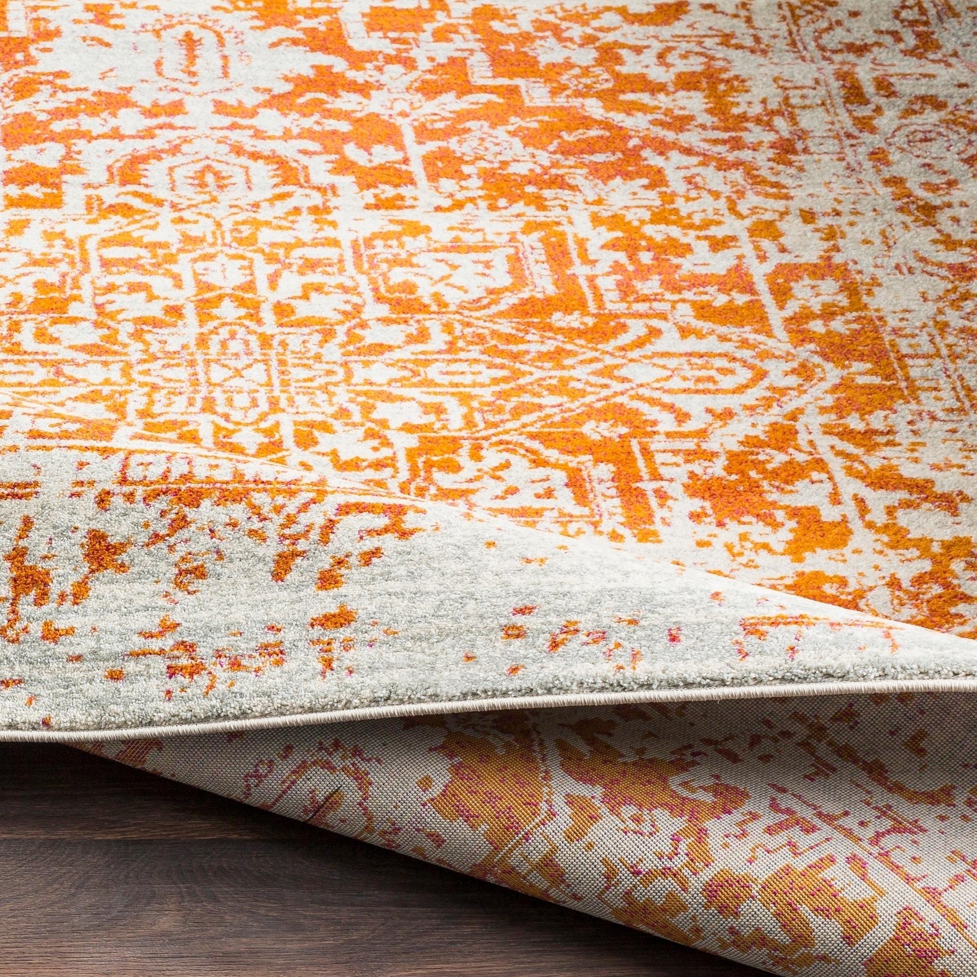 56e46d17f7ac Distressed Burnt Orange Area Rug – Madison Art Center Design