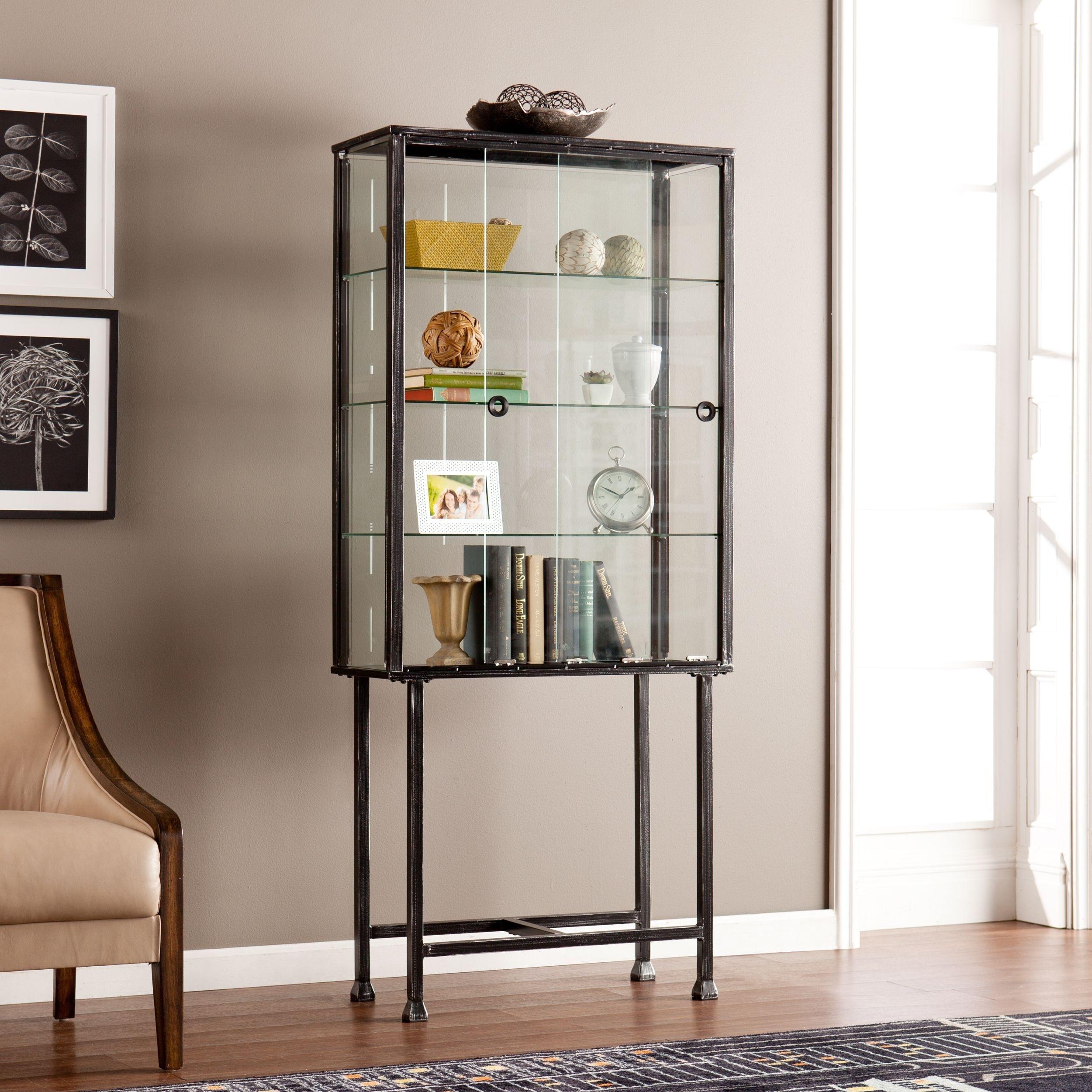 Double Glass Door Display Cabinet