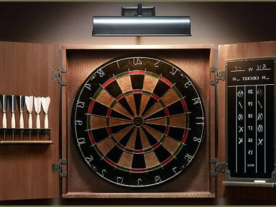 Electronic Dart Board With Cabinet