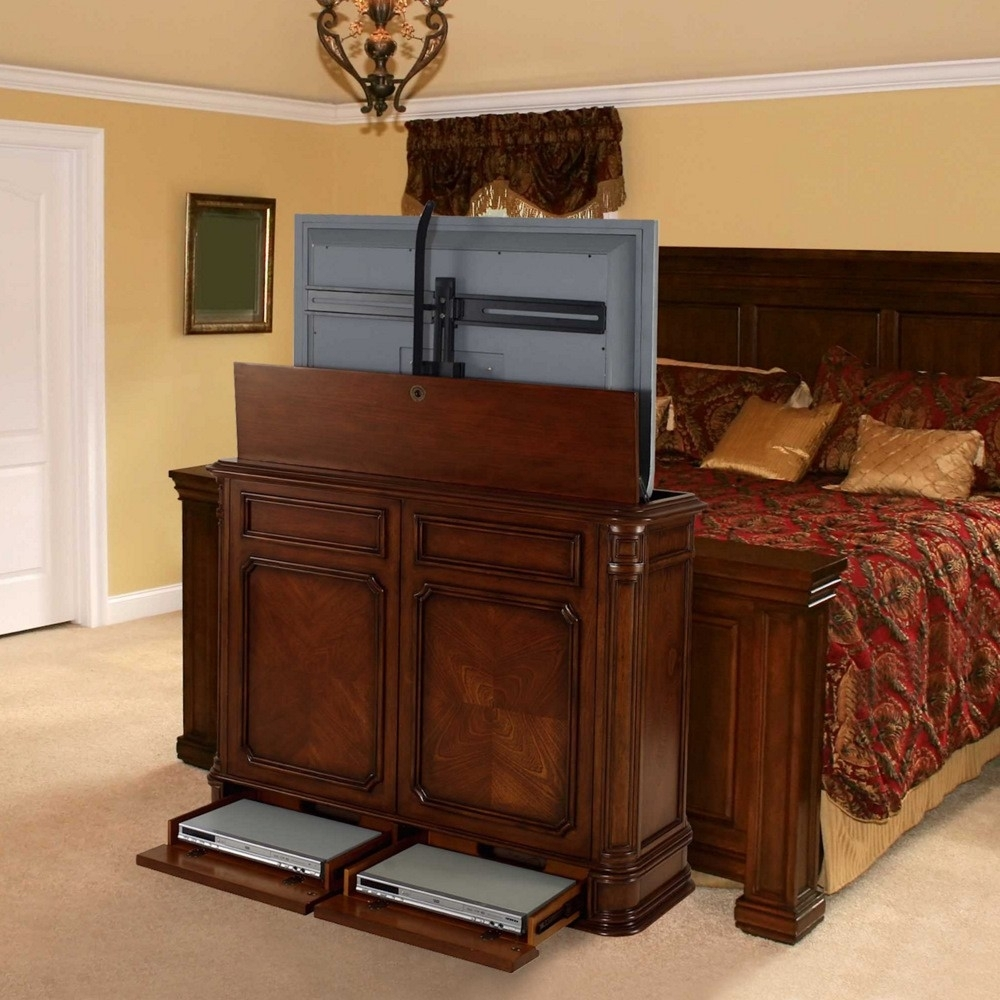 End Of Bed Tv Lift Cabinets For Flat Screens Madison Art