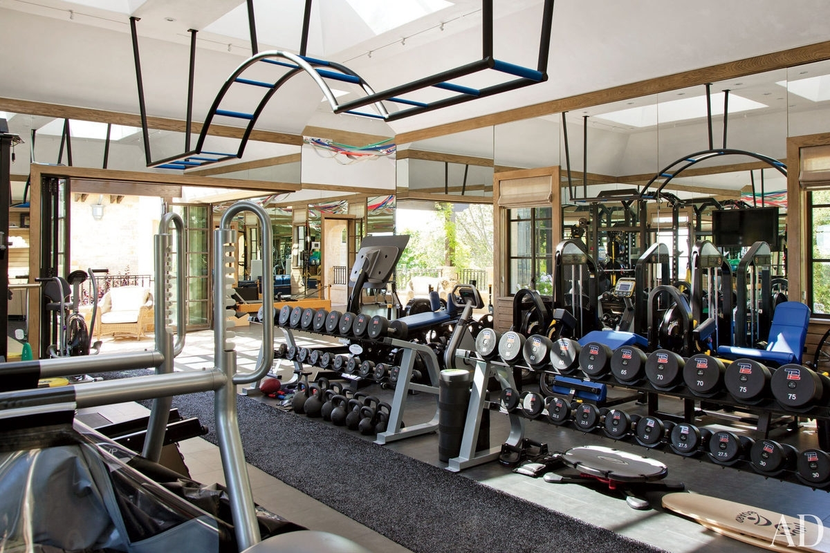In house gym ideas cool home design small garage on a budget