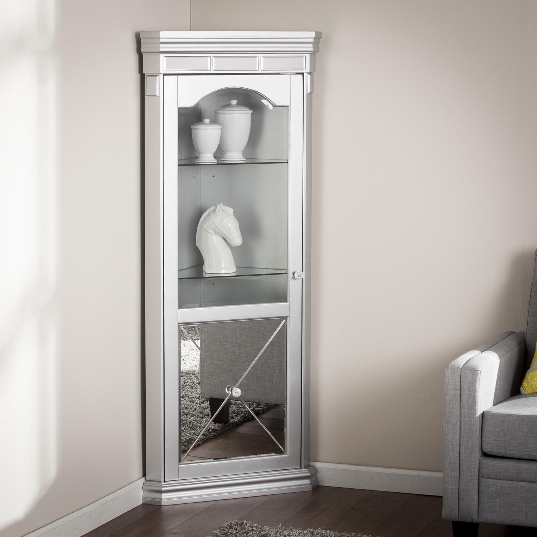 Glass Door Corner Display Cabinet