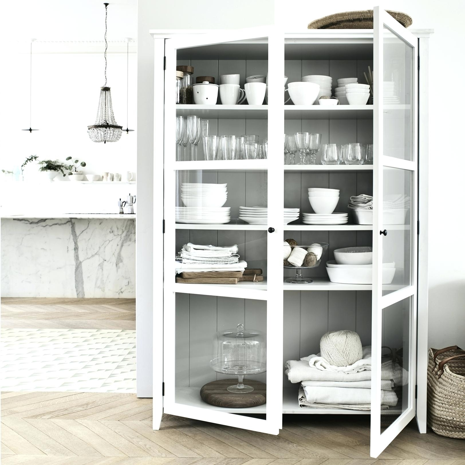 Glass Door Display Cabinet With Drawers