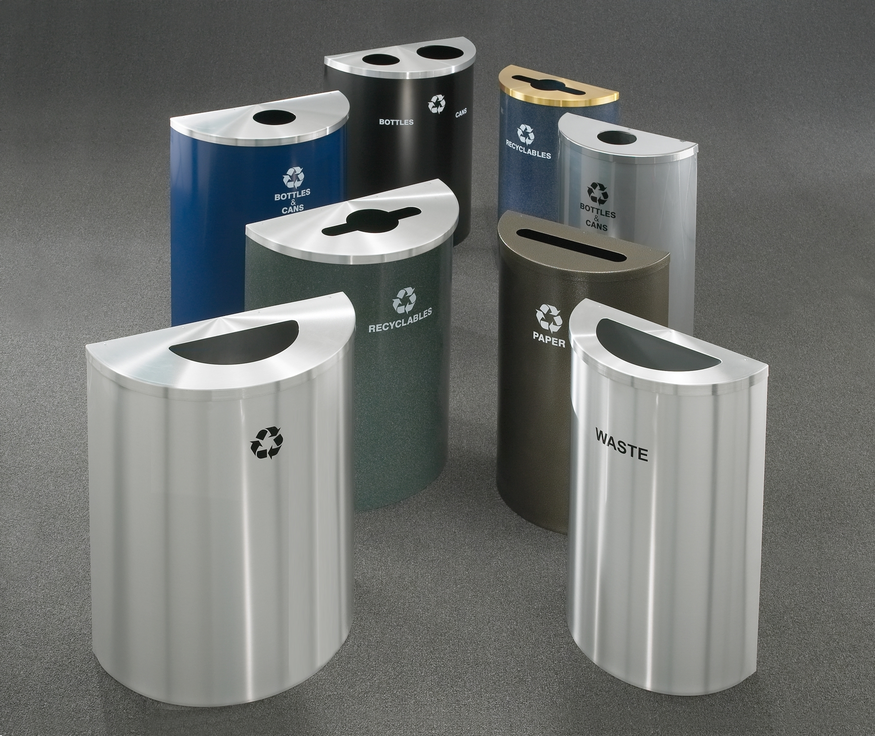 3 Gallon Stainless Steel Trash Can Madison Art Center Design