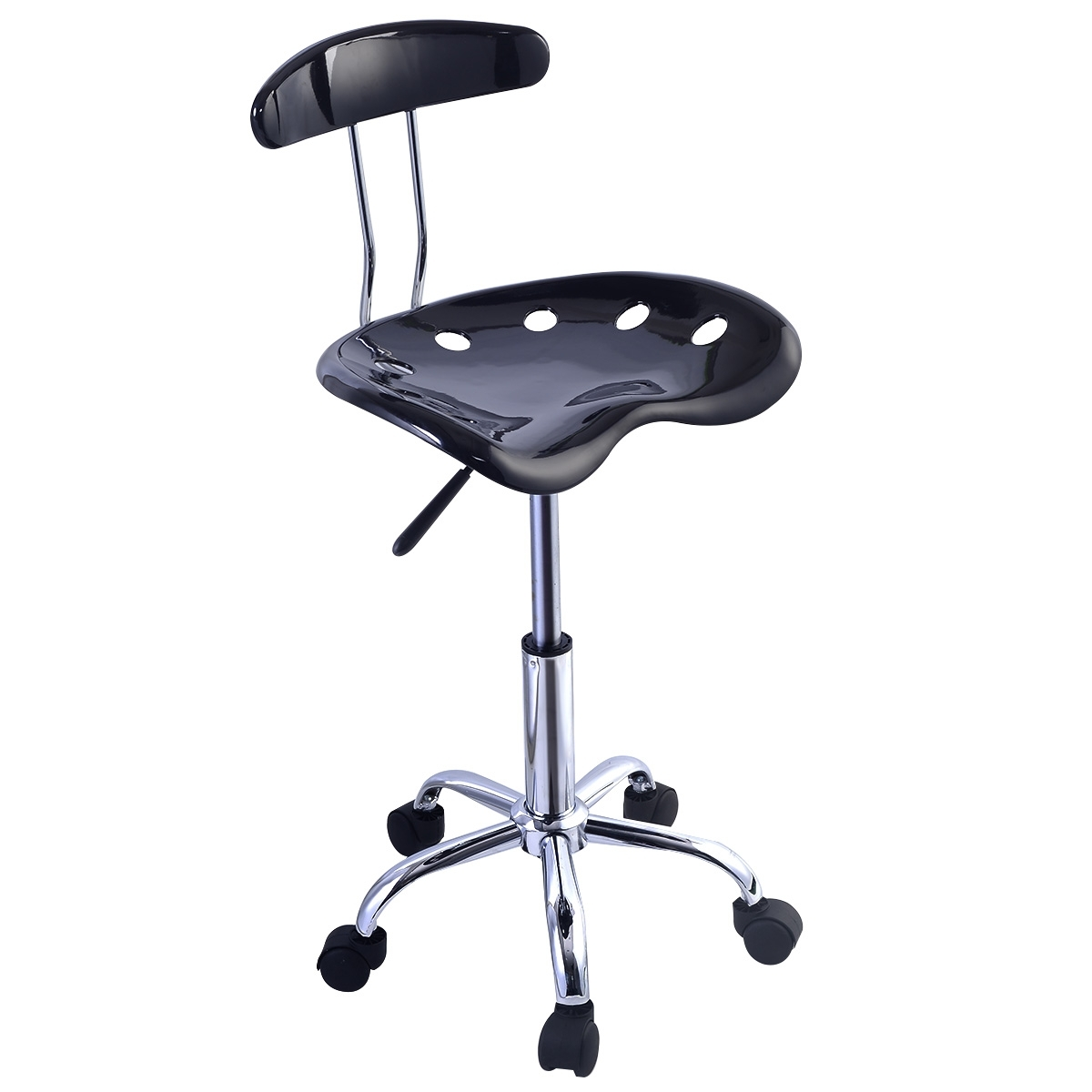 Vanity stool with wheels madison art center design - Bathroom vanity chair with casters ...